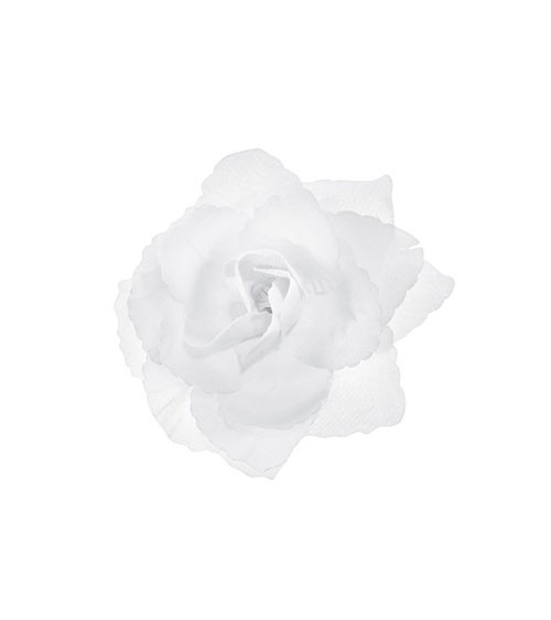 Selbstklebende Rosen - weiß - 9 cm - 24 Stück