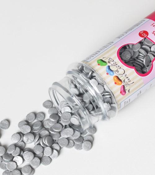 FunCakes Zuckerkonfetti - silber - 60 g