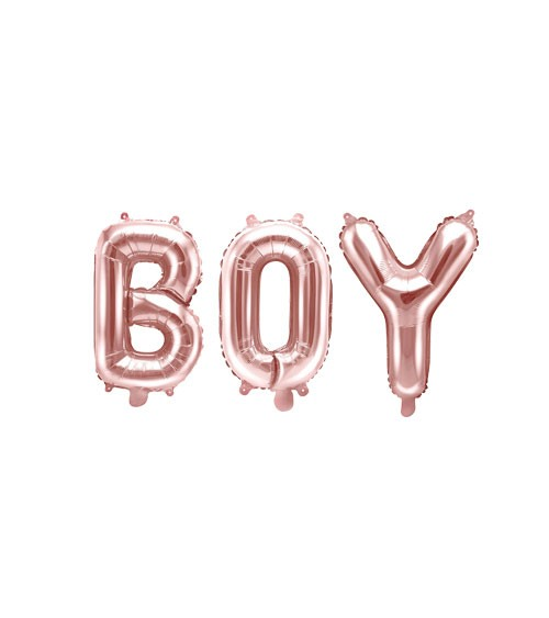 "Folienballon-Set ""BOY"" - rosegold - 35 cm"