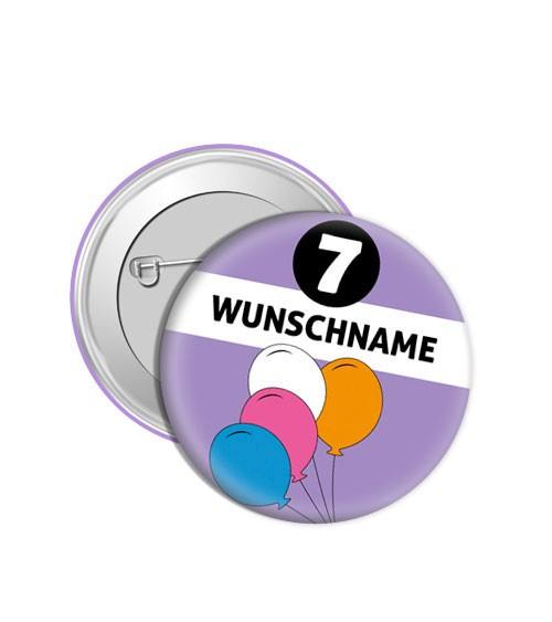 """Dein Button """"Luftballons"""" - Wunschtext"""