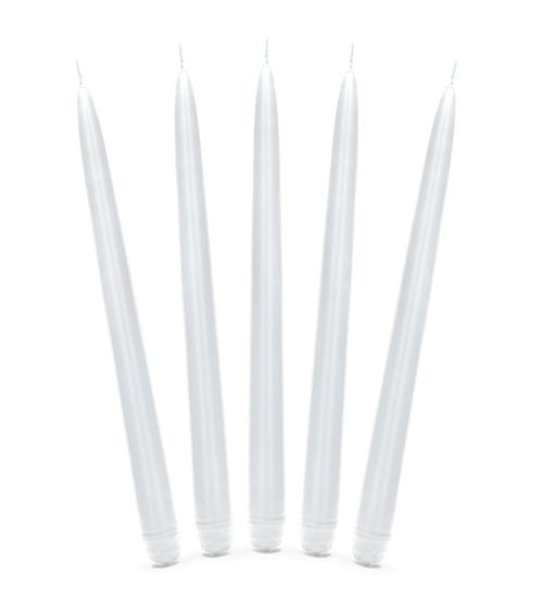 Dinnerkerzen - weiß - 24 cm - 10 Stück
