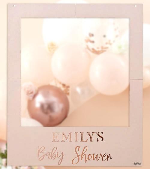 """Photobooth-Rahmen mit Stickern """"Baby Shower"""" - 60 x 72 cm"""