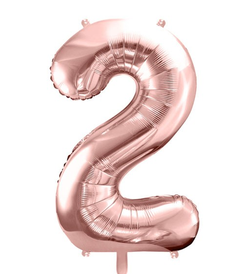 "SuperShape Folienballon ""2"" - rosegold"