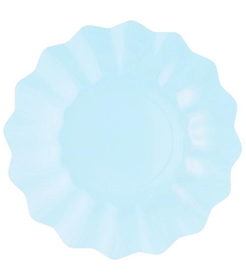 Große Pappteller - light blue - 8 Stück