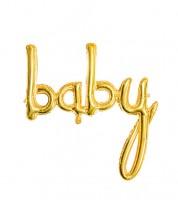 "Script-Folienballon ""Baby"" - gold - 74 x 76 cm"