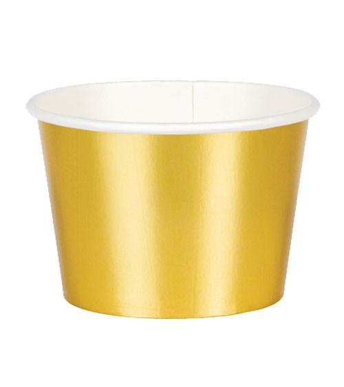 Eisbecher - metallic gold - 6 Stück