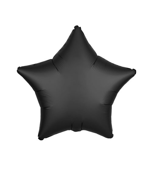 "Stern-Folienballon ""Satin Luxe"" - schwarz - 48 cm"
