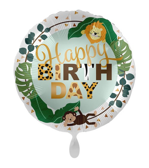 "Folienballon ""Jungle Friends"" - Happy Birthday"