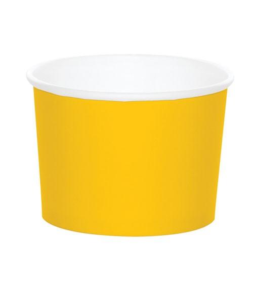 Eisbecher - school bus yellow - 6 Stück