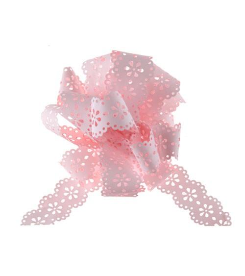 """Ziehschleifen """"Blume"""" - rosa - 5 Stück"""