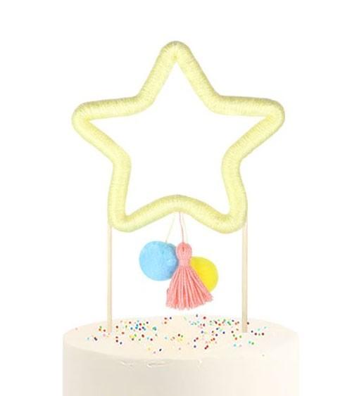 """Cake-Topper aus Baumwolle """"Stern"""""""