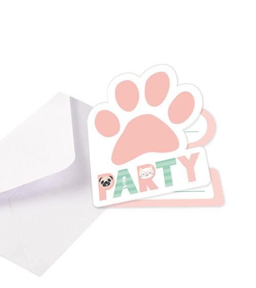 """Einladungskarten """"Cats & Dogs"""" - 8 Stück"""