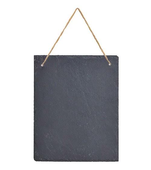 Tafel aus Schiefer zum Hängen - 20 x 25 cm