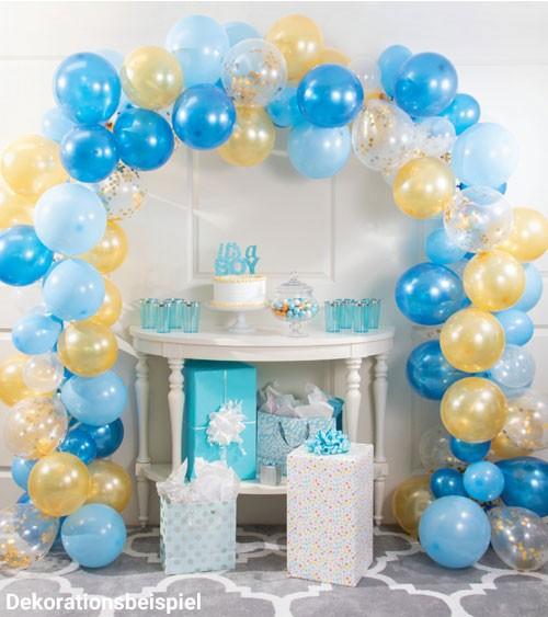 """Ballongirlanden-Set """"Blau und Gold"""" - 112-teilig"""