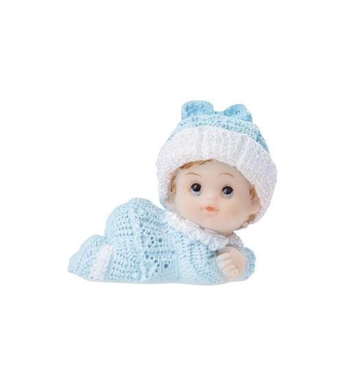 """Deko-Figur """"Baby mit Mütze"""" - blau - 4 cm"""