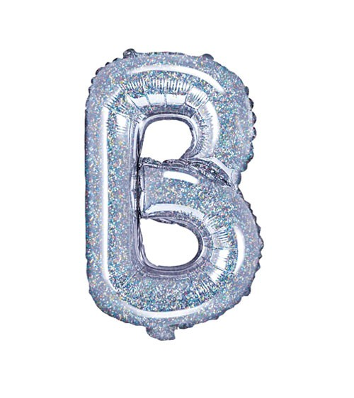 "Folienballon Buchstabe ""B"" - holographic - 35 cm"