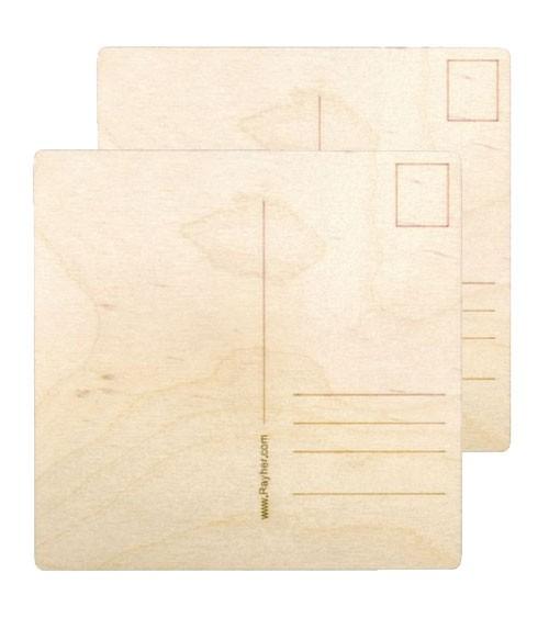 Holz-Postkarten - 20 Stück