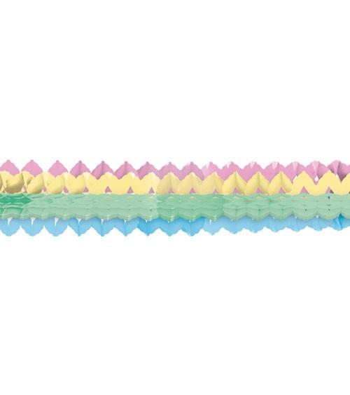"""Mini-Papiergirlanden """"Pastell Regenbogen"""" - 2 m - 2 Stück"""