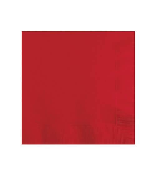 Cocktail-Servietten - rot - 50 Stück