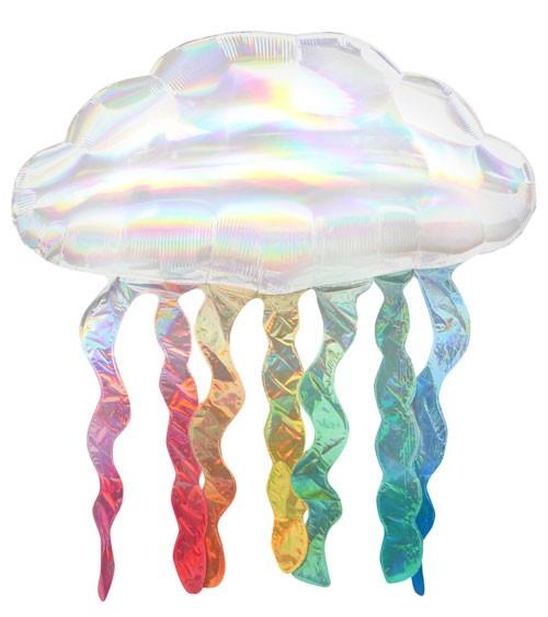 "SuperShape-Folienballon ""Regenwolke"" - irisierend - 76 x 45 cm"