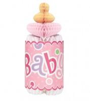 """Wabenaufsteller """"Babyflasche"""" - rosa"""