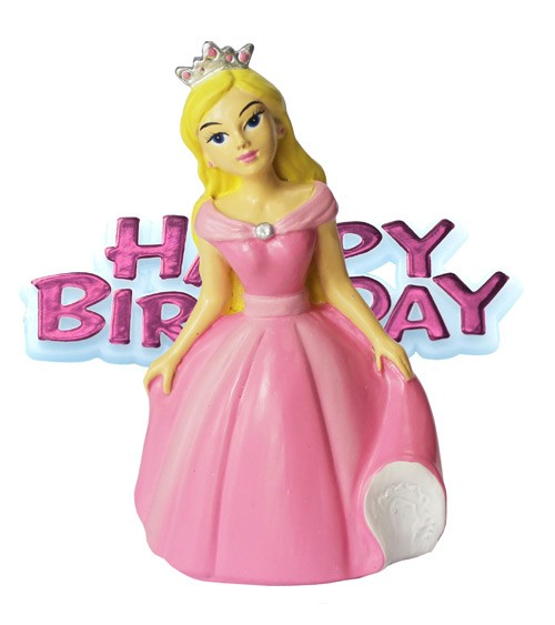 "Tortendekoration ""Prinzessin"" - Happy Birthday - 2-teilig"