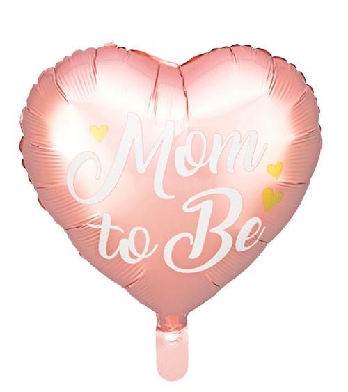 "Herz-Folienballon ""Mom to Be"" - rosa - 35 cm"