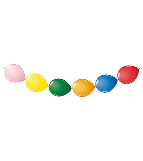 Kettenballons - bunt - 8 Stück