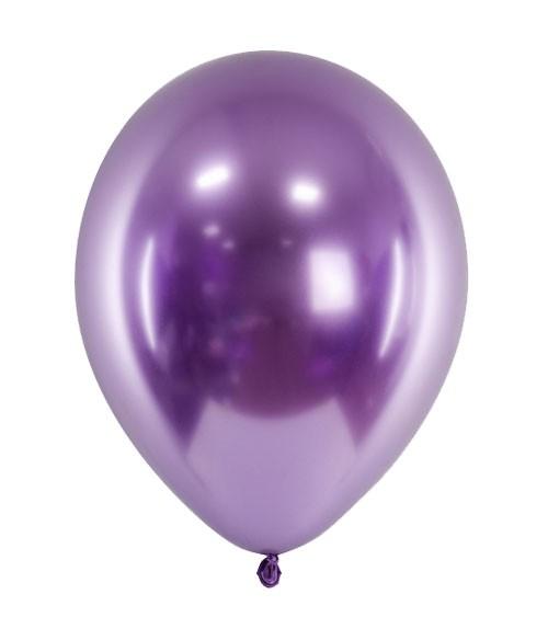Glossy-Luftballons - violett - 50 Stück