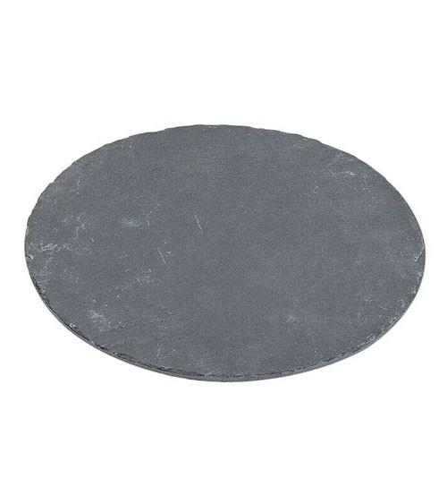 Schieferplatte - rund - 20 cm