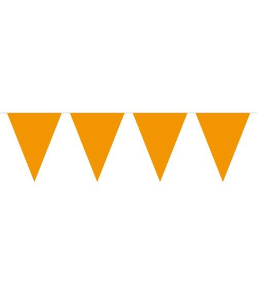Mini-Wimpelgirlande aus Kunststoff - orange - 3 m