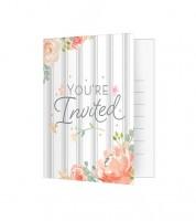 """Einladungskarten """"Floral"""" - 8 Stück"""