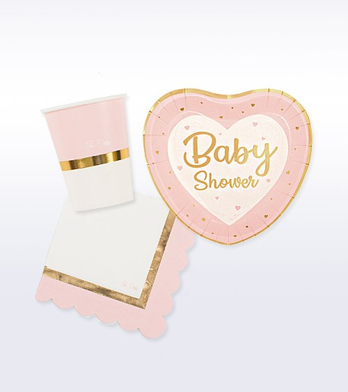 "Babyparty Deko-Set ""So Sweet"" - rosa - 32-teilig"