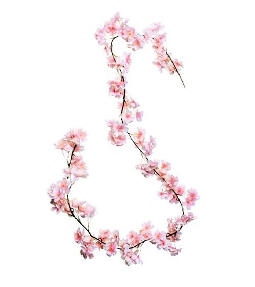 Künstliche Kirschbaumblüten-Girlande - rosa - 1,8 m
