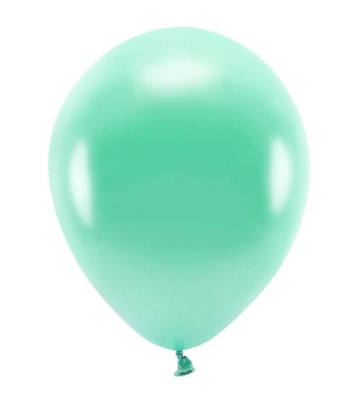 Metallic-Ballons - darkmint - 30 cm - 10 Stück