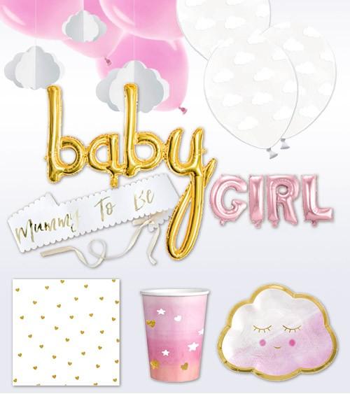 "Babyparty Deko-Set ""Baby Wolke"" 58-teilig - rosa"
