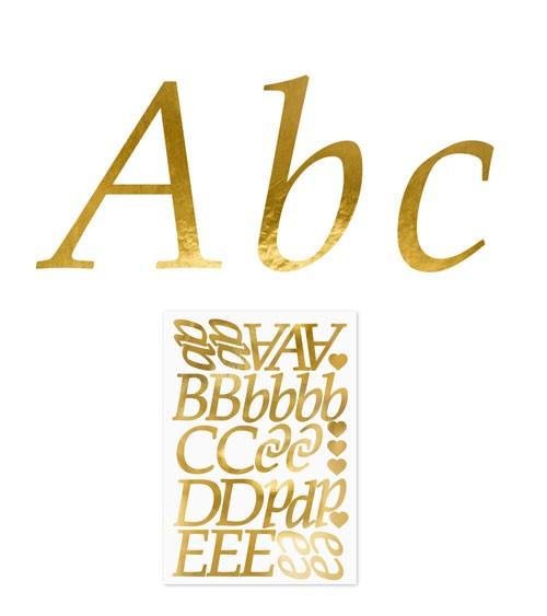 Buchstaben- und Symbol-Sticker - gold - 171-teilig