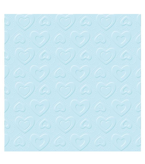 "Servietten ""Carino"" - hellblau - 20 Stück"