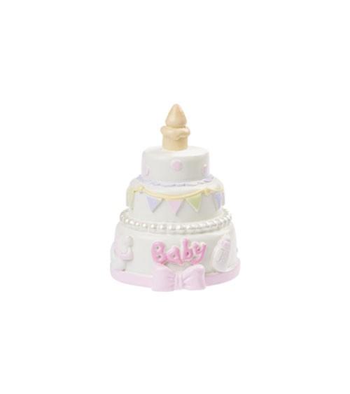 """Deko-Figur """"Baby Girl Torte"""" - 4,5 cm"""