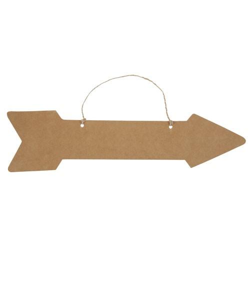Pfeil aus Pappe zum Aufhängen - Kraftpapier - 43 cm