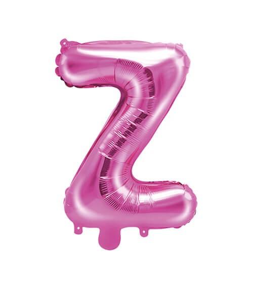 "Folienballon Buchstabe ""Z"" - pink - 35 cm"