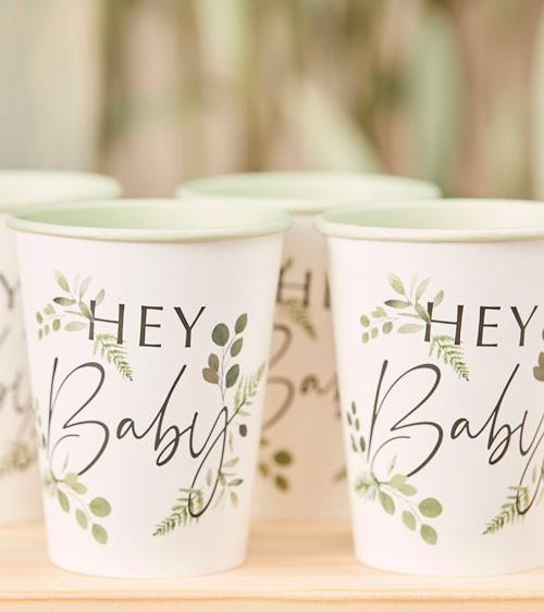 "Pappbecher ""Botanical Baby Shower"" - 8 Stück"