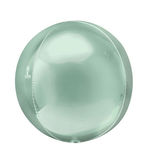 Orbz-Folienballon - mintgrün - 38 x 40 cm