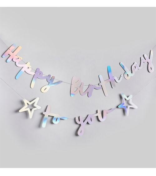 Happy Birthday to you-Girlande - irisierend - 2-teilig