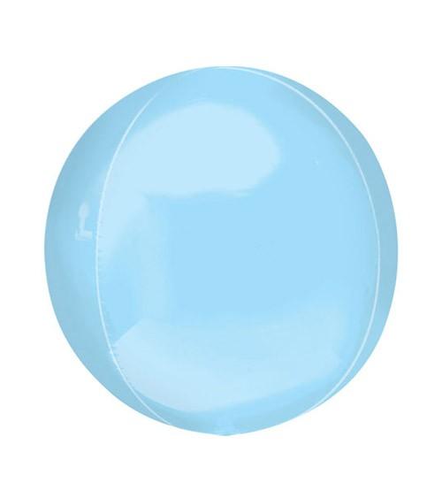 Orbz-Folienballon - hellblau - 38 x 40 cm