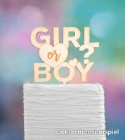 "Cake-Topper ""Girl or Boy - Herz"" aus Holz"
