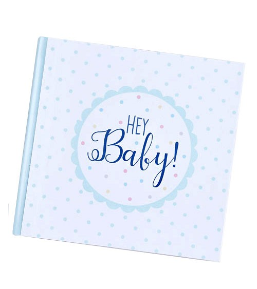 """Gästebuch mit Pünktchen """"Hey Baby"""""""