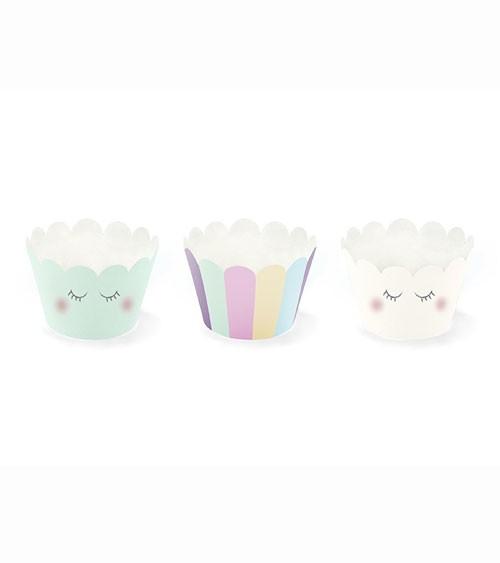 Niedliche Cupcake-Wrapper - pastell - 6 Stück