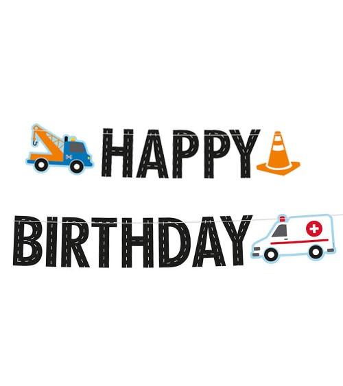 "Happy Birthday Girlande ""On the Road"" - 1,8 m"