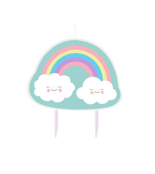 """Kuchenkerze """"Regenbogen und Wolke"""""""